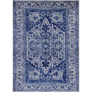 "Distressed Blue 5 x 7 Area Rug 1565 - 5'2"" x 7'2"""