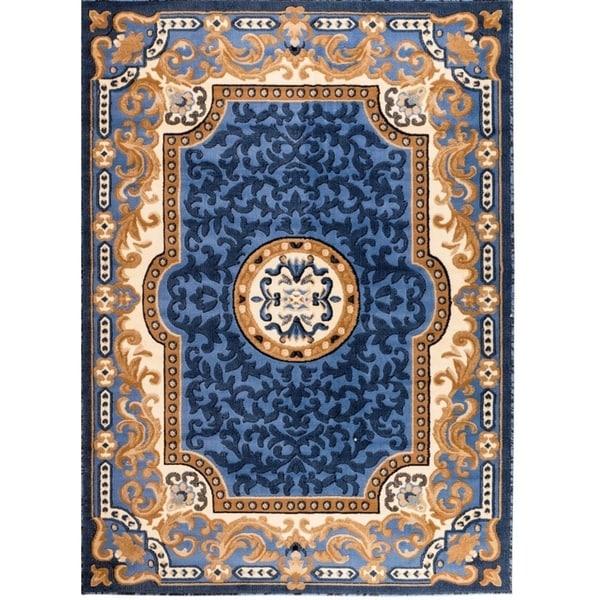 Persian Rugs 2034 Blue Oriental Area Rug 8x10 - 8' x 10'