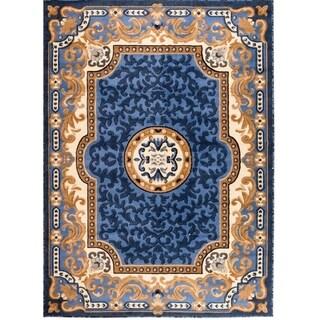 Persian Rugs 2034 Blue Oriental Area Rug 5x7 - 5' x 7'
