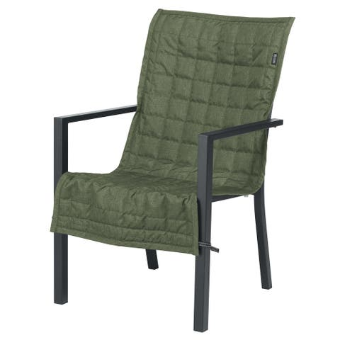 Classic Accessories Montlake Water-Resistant 45 Inch Patio Chair Slipcover, Heather Fern