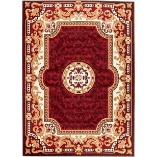 Persian Rugs 2034 Red Oriental Area Rug 5x7 - 5' x 7'