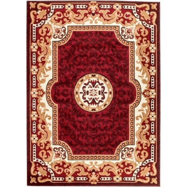 2034 Red Oriental Area Rug 5x7