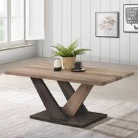 Ottomanson Carla V-shaped Pedestal Base Coffee Table
