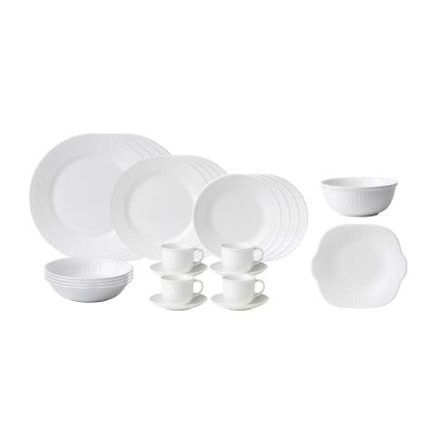 Nantucket Basket 26-piece Fine Bone China Dinnerware Set