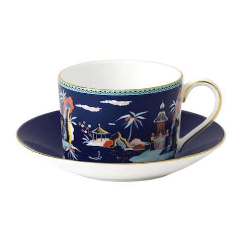 Wedgwood Wonderlust Blue Pagoda Teacup and Saucer Set