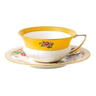 Wedgwood Wonderlust Primrose Teacup and Saucer Set