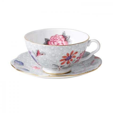 Cuckoo Fine Bone China Teacup and Saucer Set
