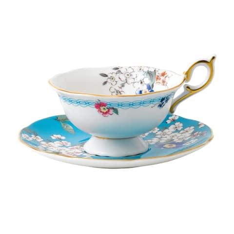 Wedgwood Wonderlust Apple Blossom Teacup and Saucer Set