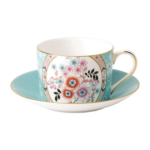 Wedgwood Wonderlust Camellia Teacup and Saucer Set