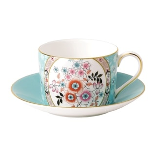 Wedgwood Wonderlust Camellia Teacup and Saucer Set