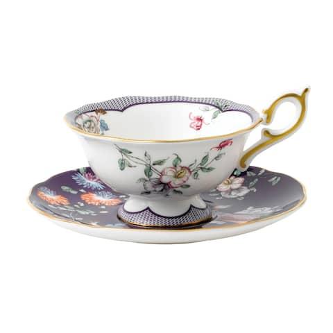 Wedgwood Wonderlust Midnight Crane Teacup and Saucer Set