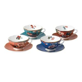 Paeonia Blush Fine Bone China Teacups and Saucers (Set of 4)
