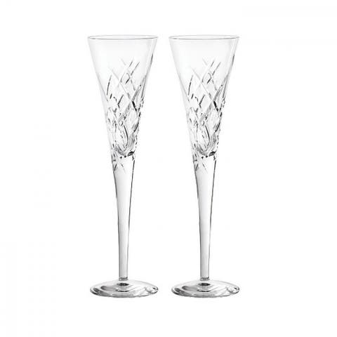 Duchesse Encore Clear Crystal Toasting Flutes (Set of 2)