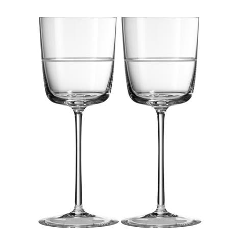Vera Bande Crystal Wine Glasses (Set of 2)
