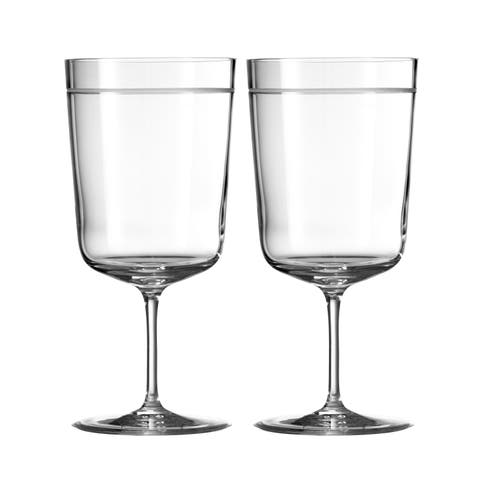 Vera Bande Crystal Goblets (Set of 2)