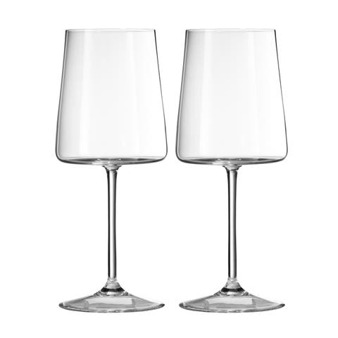 Vera Metropolitan Crystal Goblets (Set of 2)