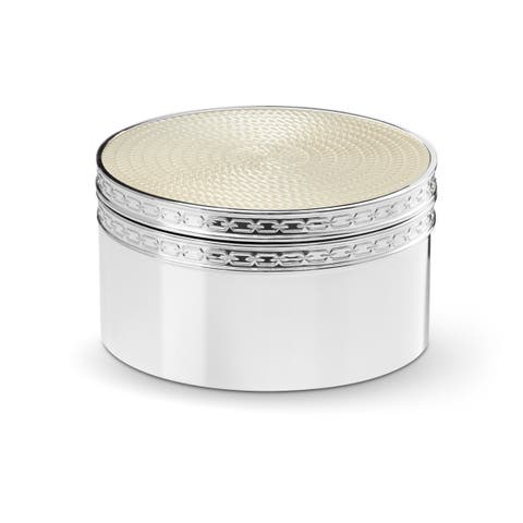 With Love Nouveau Silver Plated Metal Covered Box
