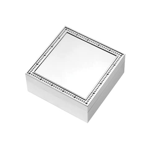 With Love Silver Plated 4-inch Metal Square Keepsake Box