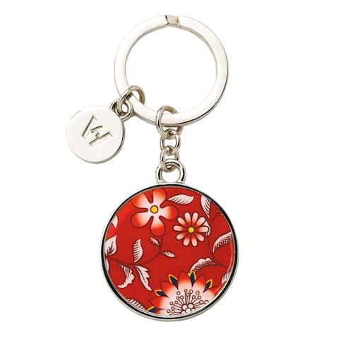 Wedgwood Wonderlust Crimson Jewel Metal Key Ring