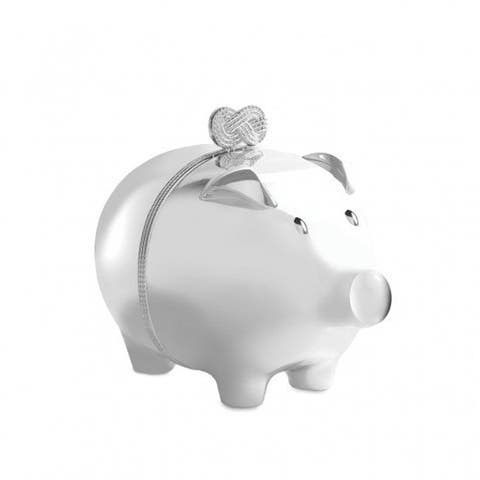 Baby Silver Plated Metal Piggy Bank