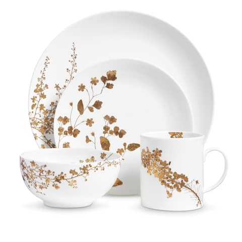 Vera Jardin White 4-piece Fine Bone China Place Setting