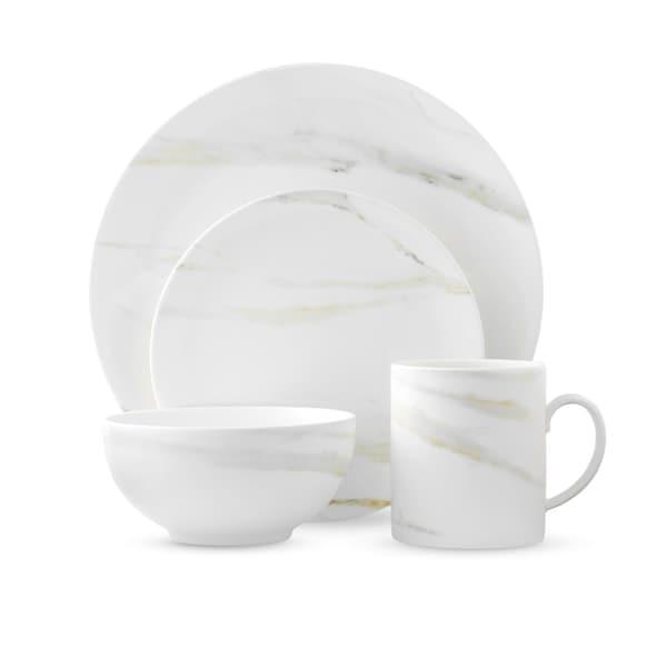 Vera Venato White 4-piece Fine Bone China Imperial Place Setting