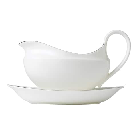 Signet Platinum 0.6-pt Fine Bone China Gravy Boat