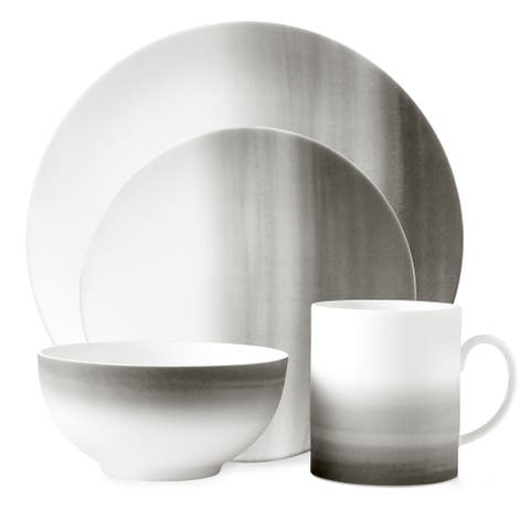 Vera Degradée White 4-piece Fine Bone China Place Setting