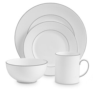 Blanc Sur Blanc White 4-piece Fine Bone China Place Setting