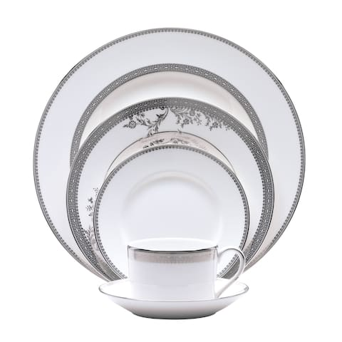 Vera Lace White 5-piece Fine Bone China Place Setting