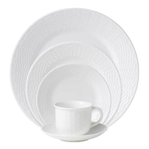 Nantucket Basket White 5-piece Fine Bone China Place Setting