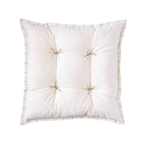 Luna Oyster Velvet 20-inch Throw Pillow