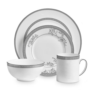 Vera Lace White 4-piece Fine Bone China Place Setting