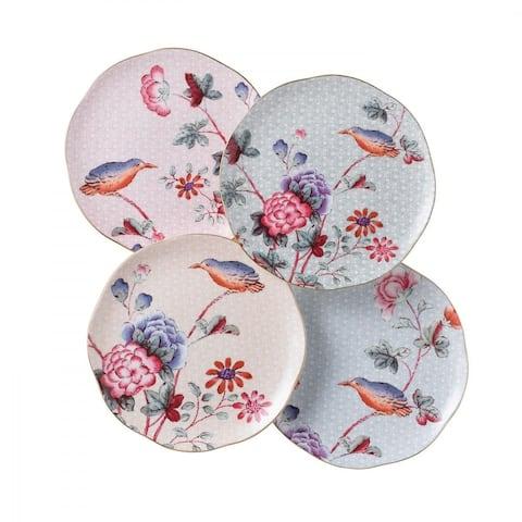 Cuckoo 8.25-inch Fine Bone China Tea Plates (Set of 4)