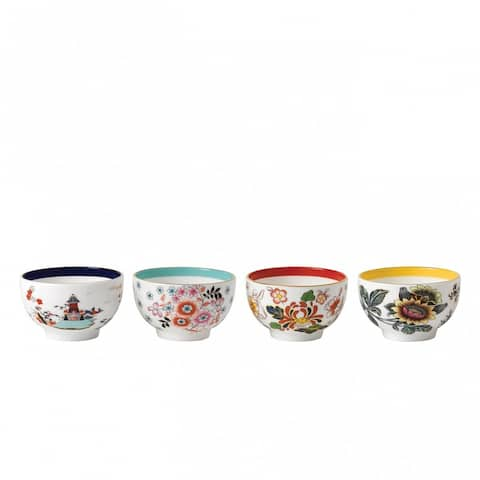 Wedgwood Wonderlust Fine Bone China Tea Bowls (Set of 4)
