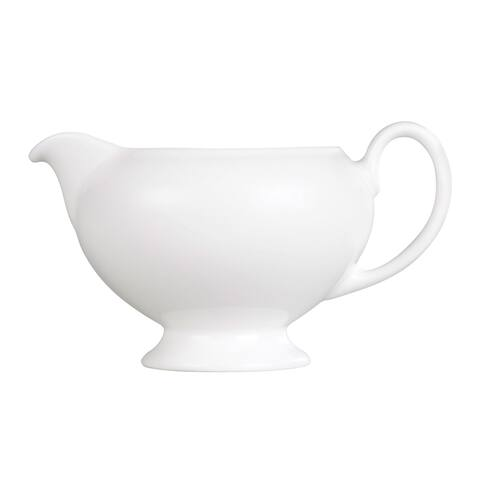 Wedgwood White Fine Bone China Leigh Creamer