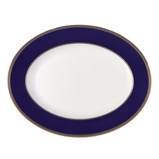 Renaissance Gold 13.75-inch Fine Bone China Oval Platter