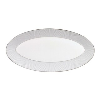 Pin Stripe 15.5-inch Fine Bone China Oval Platter