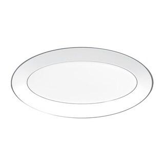 Platinum and White 15.5-inch Fine Bone China Oval Platter