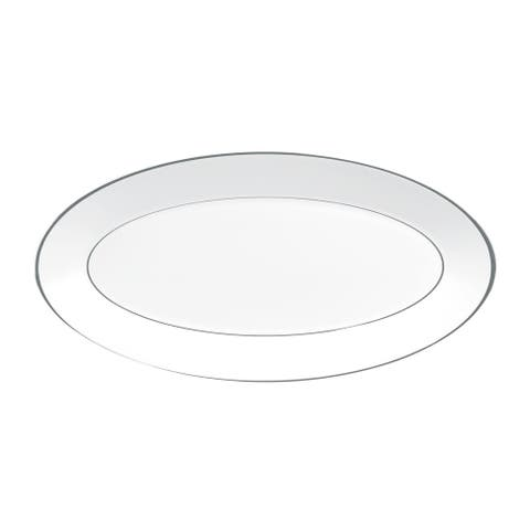 Platinum and White 15.5-inch Fine Bone China Oval Platter