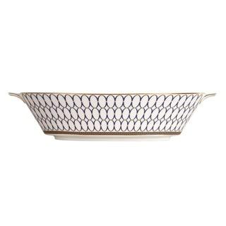 Renaissance Gold Fine Bone China Oval Serving Bowl
