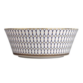 Renaissance Gold 10-inch Fine Bone China Serving Bowl