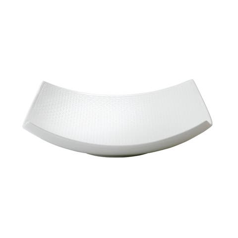Gio White 10-inch Fine Bone China Sculptural Bowl