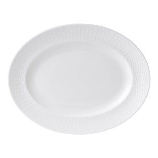 Nantucket Basket 13.75-inch Fine Bone China Oval Platter