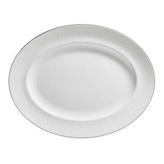 English Lace 13.75-inch Fine Bone China Oval Platter