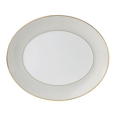 Arris 13-inch Fine Bone China Oval Serving Platter