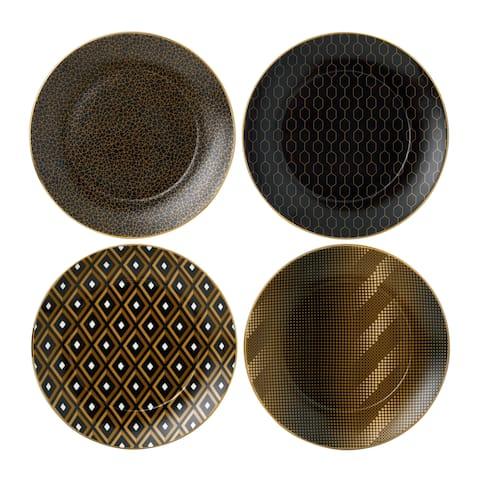 Arris Fine Bone China Accent Tea Plates (Set of 4)