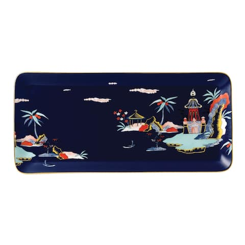 Wedgwood Wonderlust Blue Pagoda Rectangular Tray