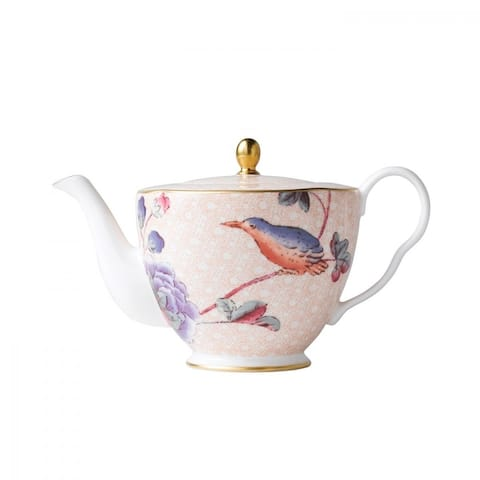 Cuckoo 12.5 oz Burnished Gold Edge Line Fine Bone China Teapot