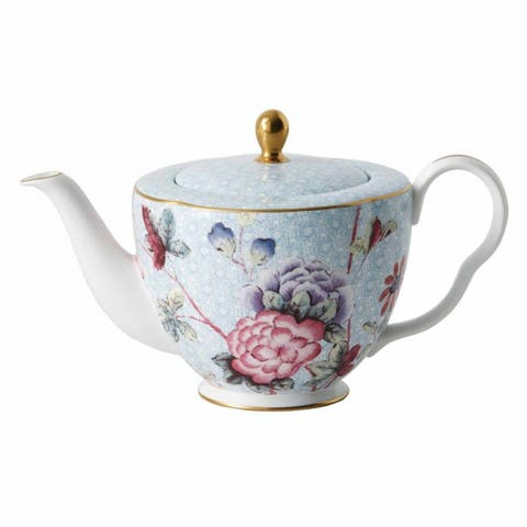 Cuckoo 1-ltr Burnished Gold Edge Line Fine Bone China Teapot